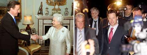 Konservative David Cameron godkänns av drottning Elizabeth II som ny premiärminister. Liberaldemokraternas Nick Clegg blir vice premiärminister.