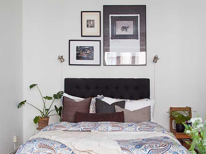 Våga placera sängen ut mot rummet även om hemmet är litet, det ger en härlig hotellkänsla.