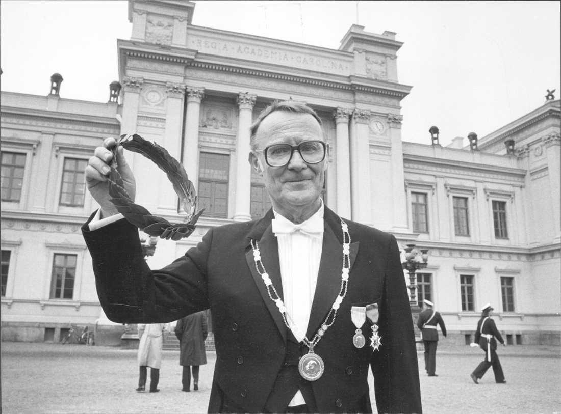 Ingvar Kamprad,  grundare av möbelkedjan Ikea blev hedersdoktor i företagsekonomi.
