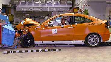 Mercedes C180 fick full pott i krocktestet.