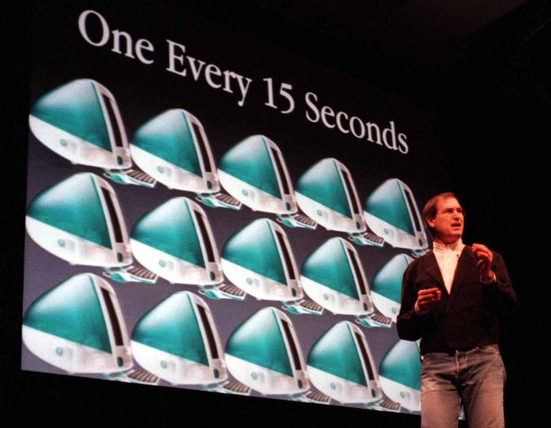 Ny Imac 1998 visade Steve Jobs upp den helt nya Imacen - en kommande succé.