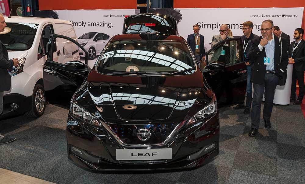 Premiär för Nissan Leaf på svensk mark.