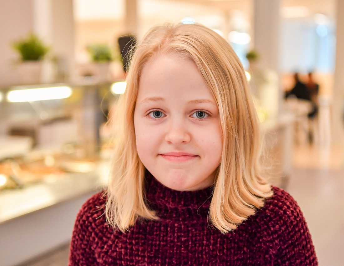 Maria Vinterbacke, 11 år, elev på Skapaskolan i Huddinge.