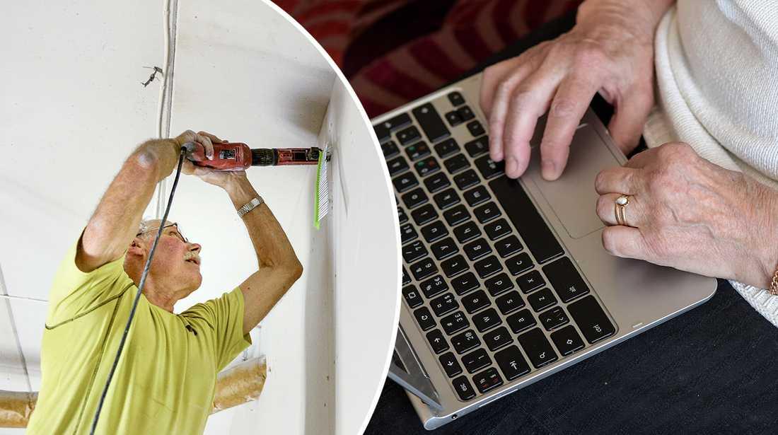 Allt fler äldre jobbar efter pensionen, visar siffror från SCB.