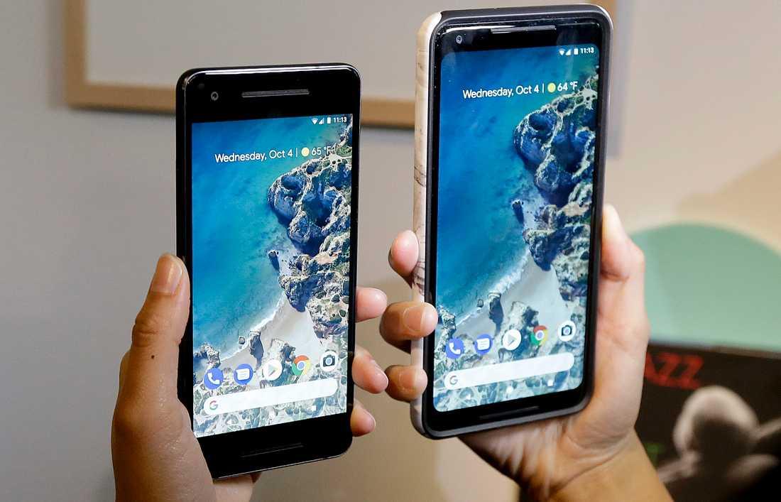 Bild från fjolårets lansering av Googles Pixel-telefon.