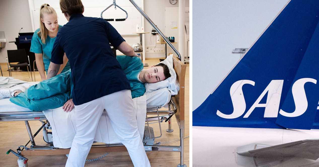 Här omskolas SAS-personal – till att jobba inom vården