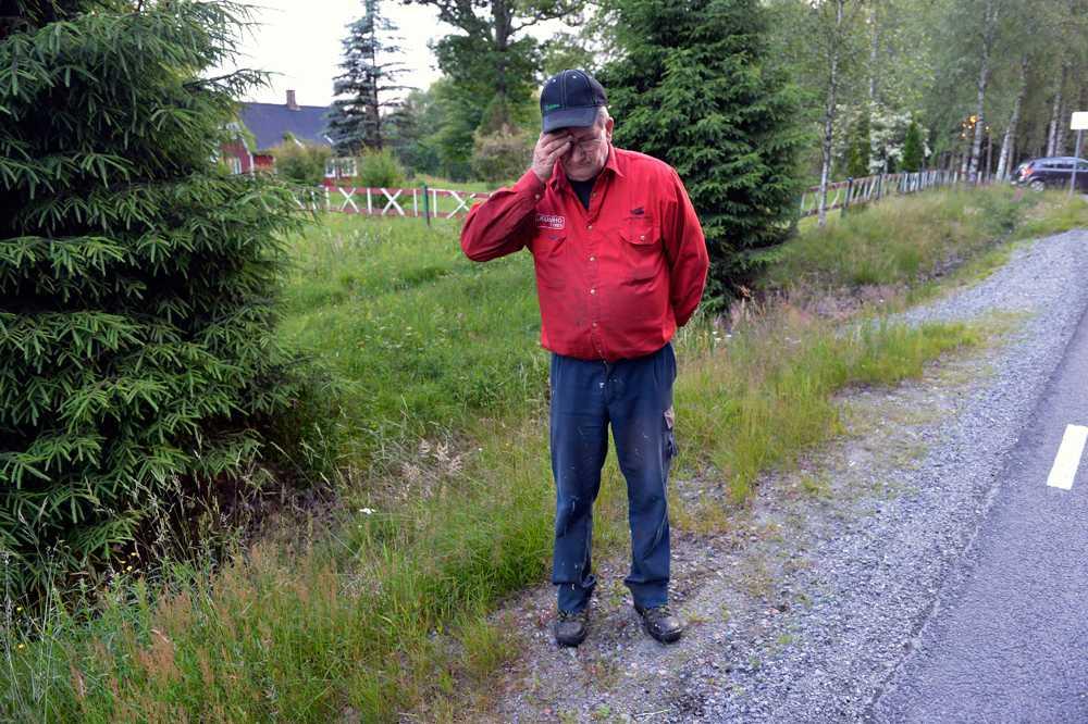 """91-årige mannen dog efter olycka med sin gräsklippare – grannen Staffan Häldebring sörjer: """"Fruktansvärt, han var mycket pigg för sin ålder""""."""