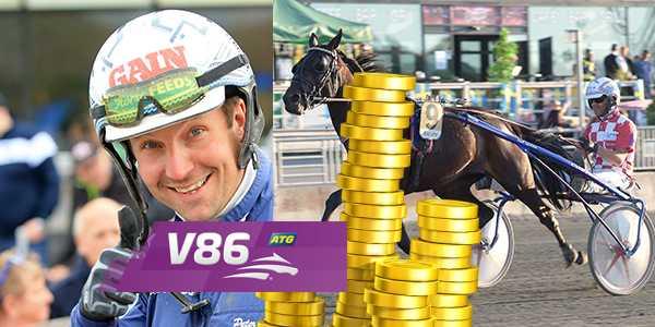 Peter G Norman tillsammans med Flaming Ace Sisu är en av miljonrensarna på V86.
