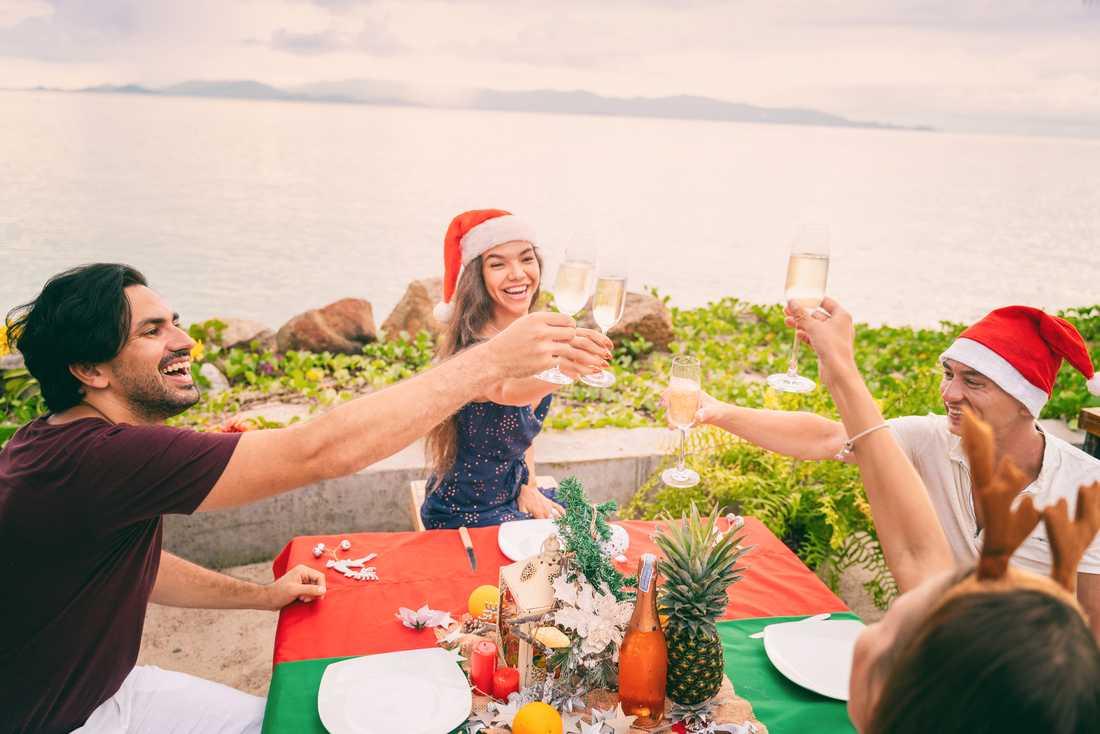 Många väljer att fira jul i värmen.