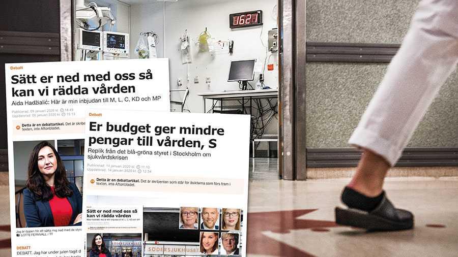 Vi tar patienternas och vårdpersonalens larmrapporter på största allvar. Vi tycker att även Moderaterna och Irene Svenonius ska göra det. Låt oss sitta ner och diskutera lösningar på krisen inom sjukvården i Stockholm, skriver Socialdemokraterna i Stockholm.