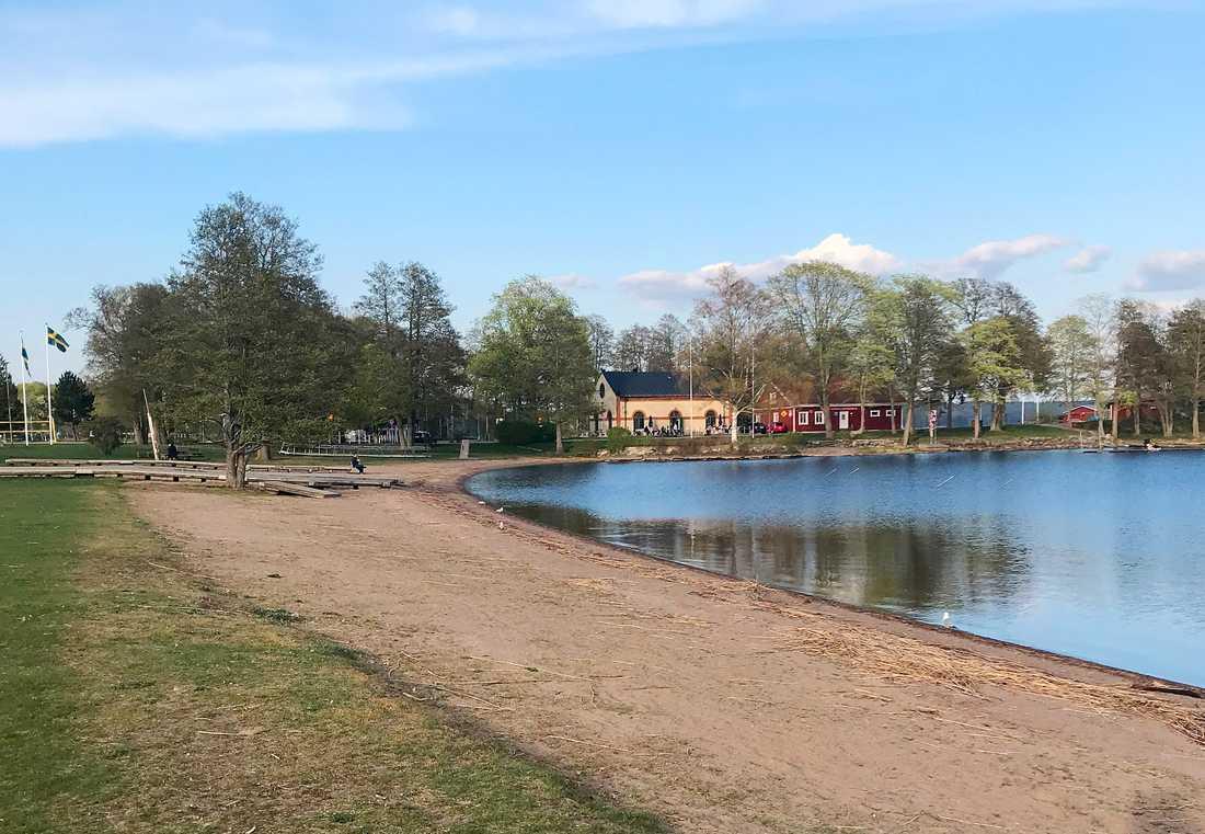 Badplatsen i Karlskoga.