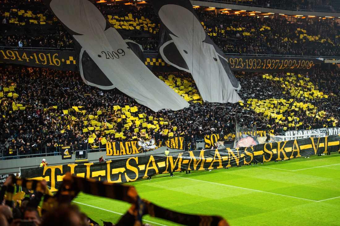 AIK-fansen fick inte guldjubla på hemmaplan förra helgen