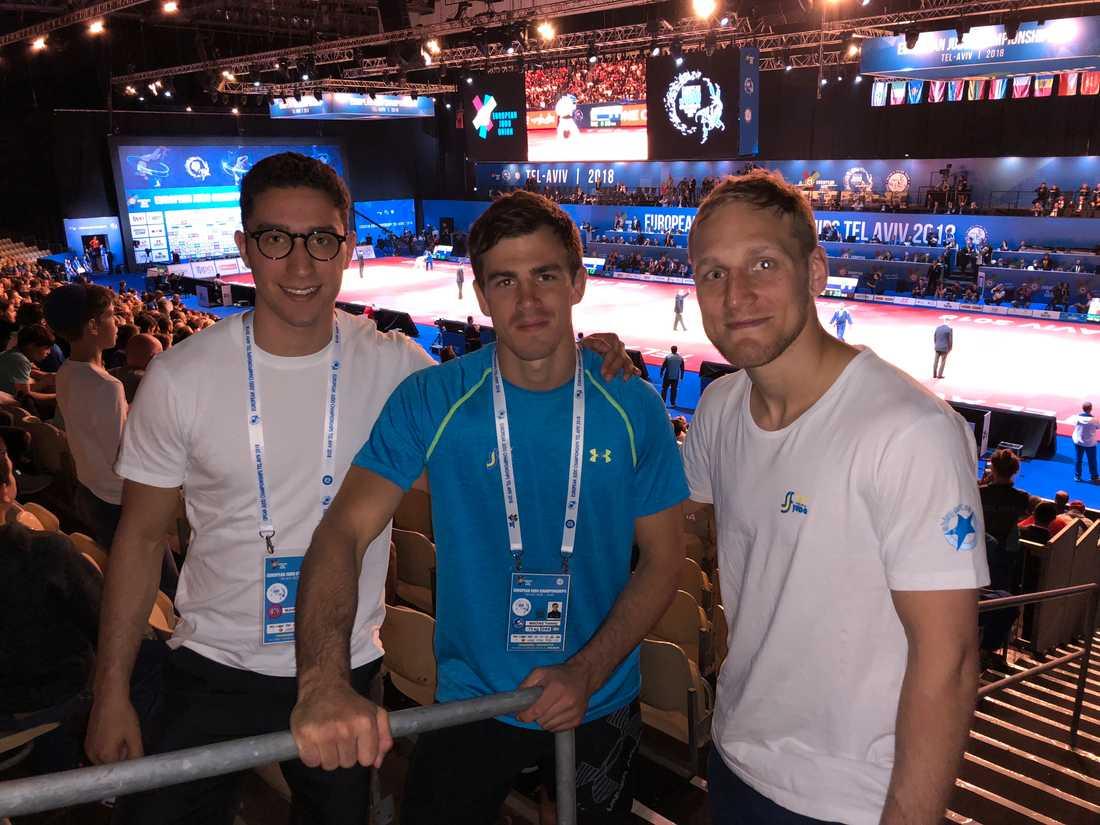 Joel Mankowitz, Tommy Macias och Robin Pacek i svenska judolandslaget på plats i Israel inför EM