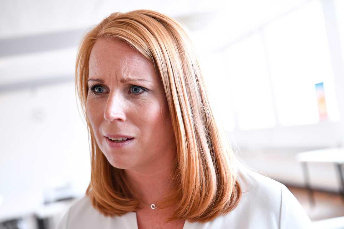 Centerpartiets ledare Annie Lööf har flest följare (47700) av partiledarna som har privata konton på Instagram. Arkivbild.