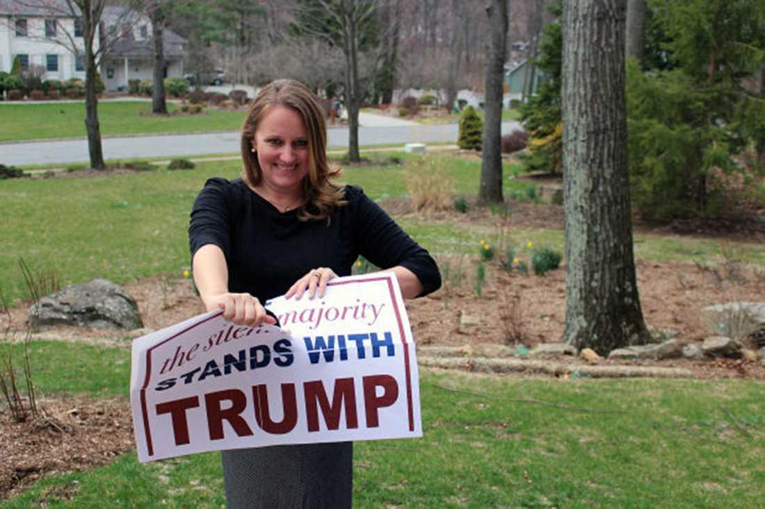 Stephanie Cegielski tröttnade på Donald Trump.
