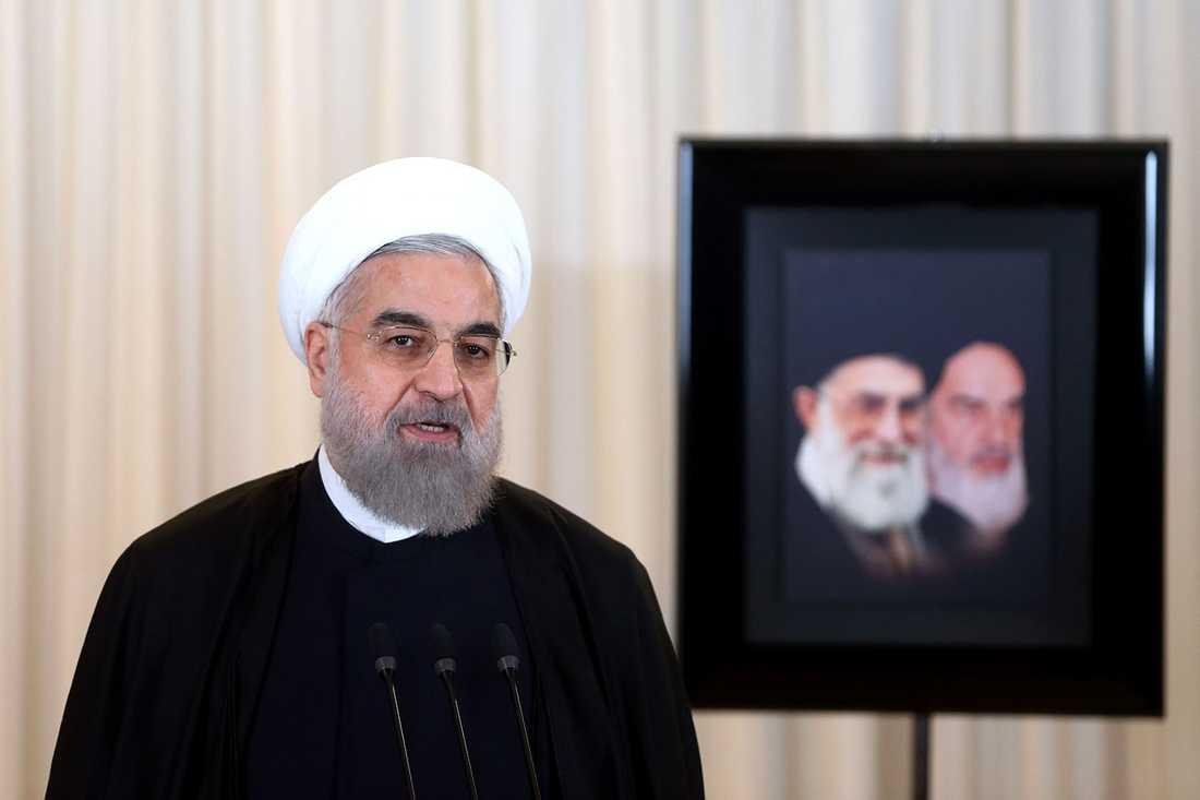 """Irans utrikesdepartementet uppger att Saudiarabien kommer att få """"betala dyrt"""". På bilden: Irans president Hassan Rouhani."""