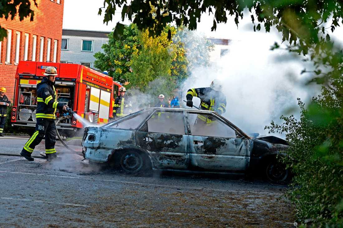 Bilbrand PÅ Kämpingeskolan Tensta