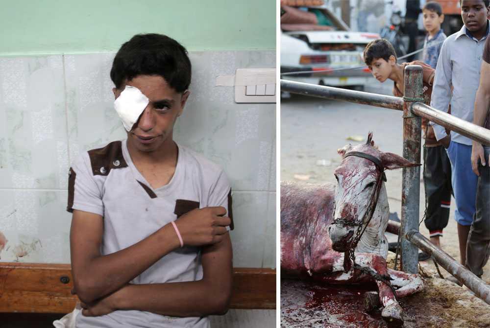 Tidigt den 30 juli attackeras en FN-skola i Jabalia där över 3 000 palestinier ska ha sökt skydd. Över ett dussin människor dör. Den israeliska militären säger att de svarade på beskjutning som kom från riktningen där skolan ligger.