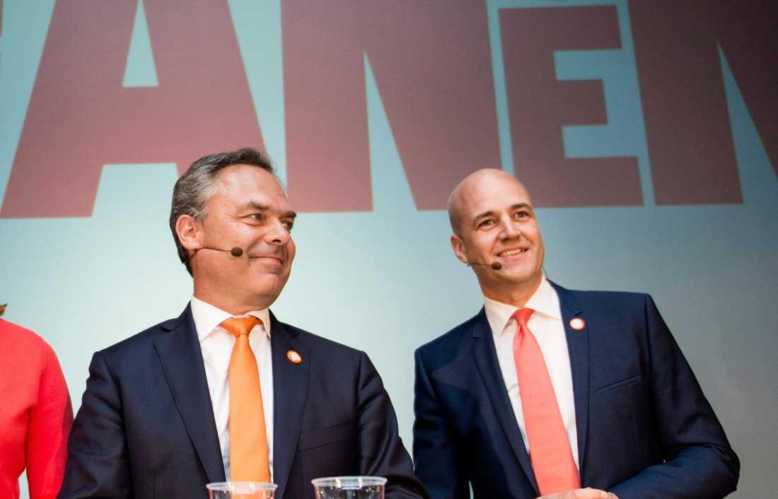 Jan Björklund (FP) och Fredrik Reinfeldt (M). Foto: Pontus Lundahl/TT