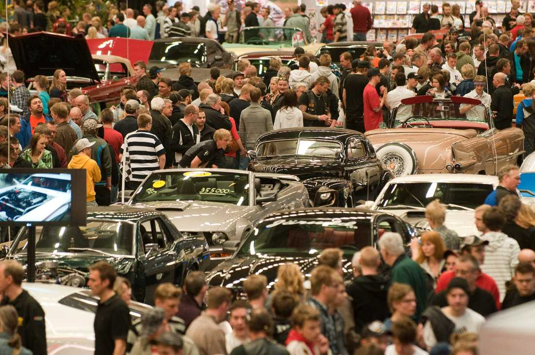 Motormässan i Jönköping för några år sedan. I år arrangeras mässan digitalt, men kommunen har fått signaler om att besökare kan komma för att träffas i Jönköping ändå. Arkivbild.