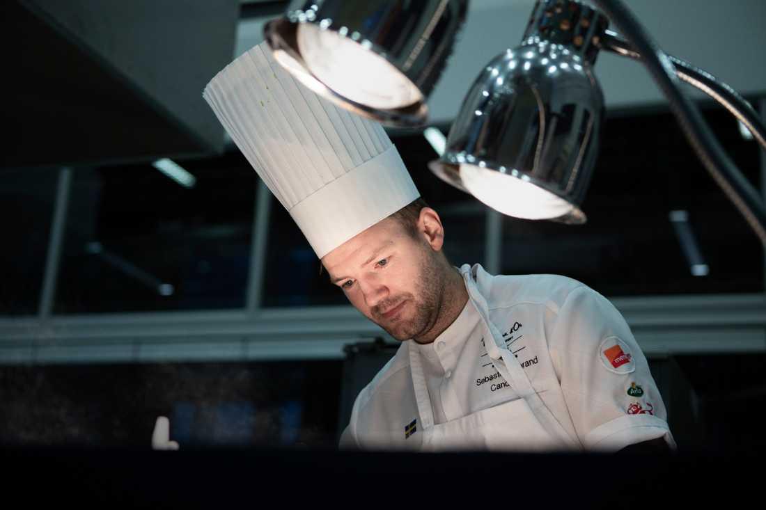 Sebastian Gibrand, kock, Sveriges deltagare i världsfinalen i kocktävlingen Bocuse d'Or.