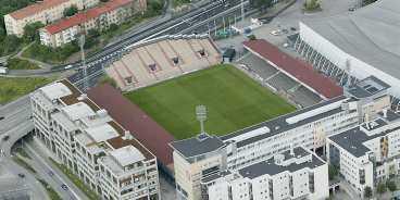 snart borta Enas politikerna är denna vy över Söderstadion all. Nu planeras det för en arena som ska rymma 25000 åskådare, inte 50000 som man diskuterade tidigare.