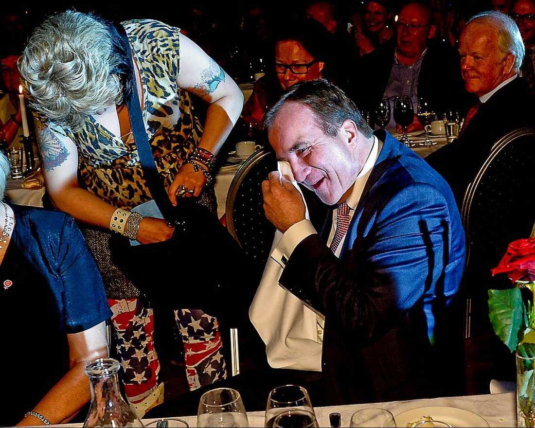 Mia Skäringer fick Stefan Löfven att skrattgråta.