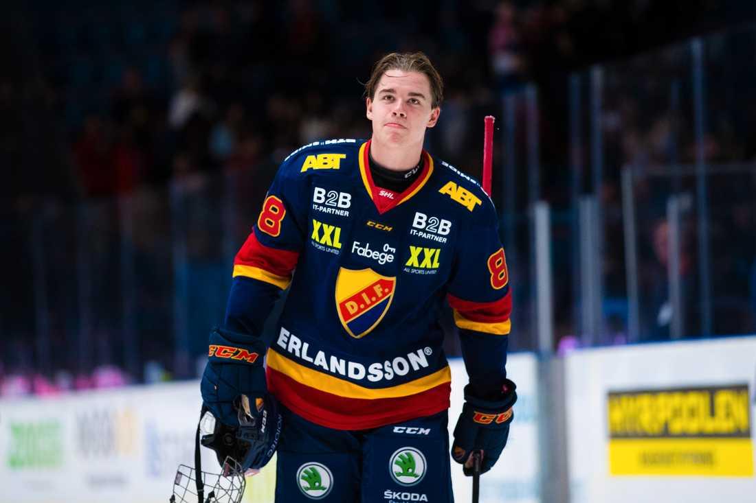 18-årige Alexander Holtz ingår i Djurgårdens tilltänkta förstakedja den här säsongen.