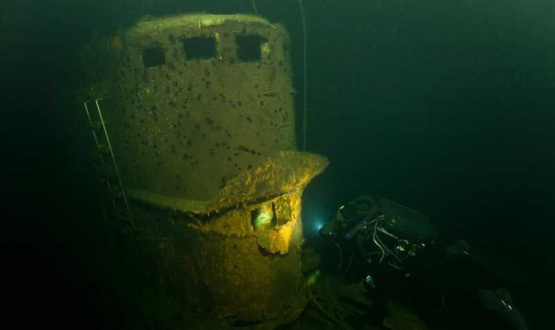 Mystiskt vrak Ubåten ligger på havsbotten utanför Gotland.