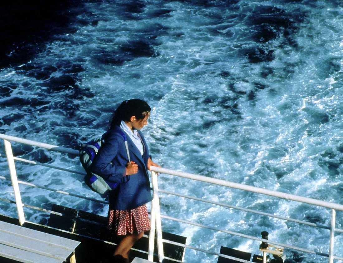 Elaine Cassidy ombord.