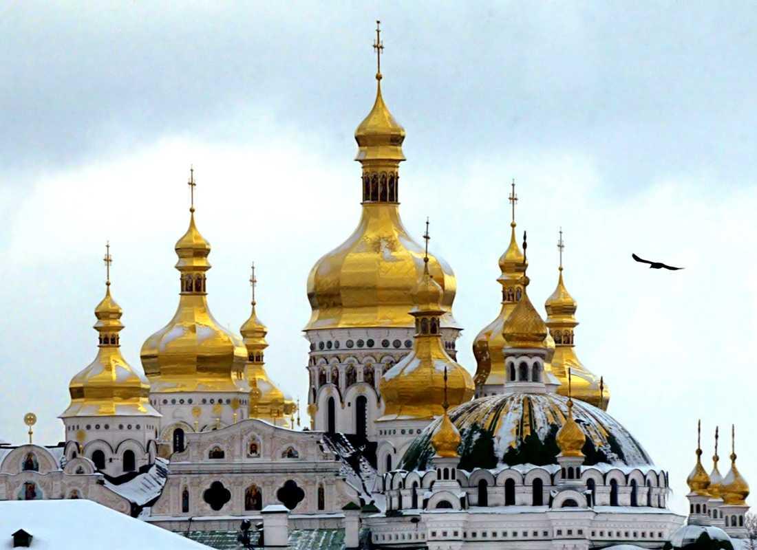 Petjerskaklostret i Ukrainas huvudstad Kiev. Arkivbild.
