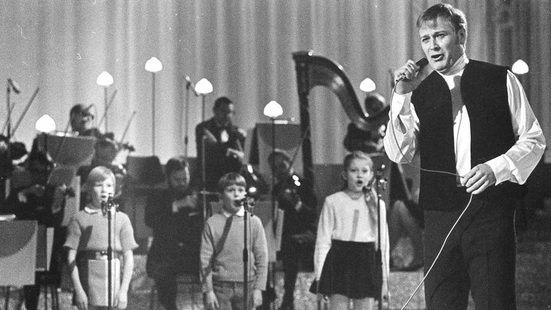 Jan Malmsjö i Melodifestivalen 1969.