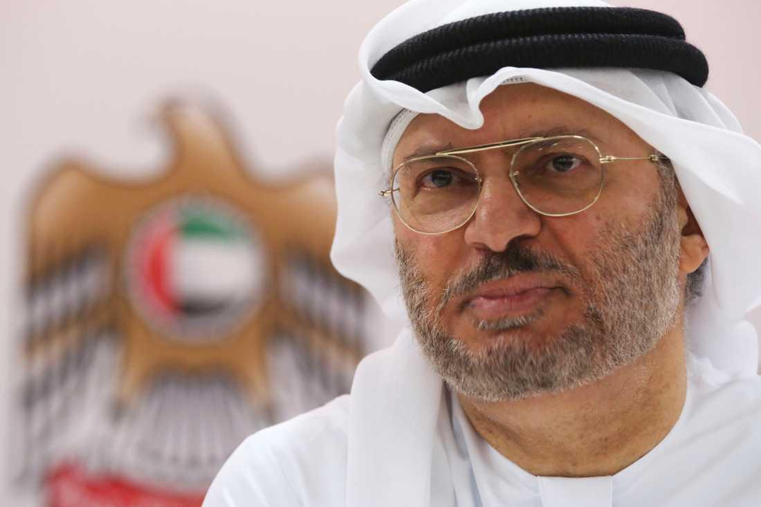 Förenade arabemiratens utrikesminister Anwar Gargash. Arkivbild.