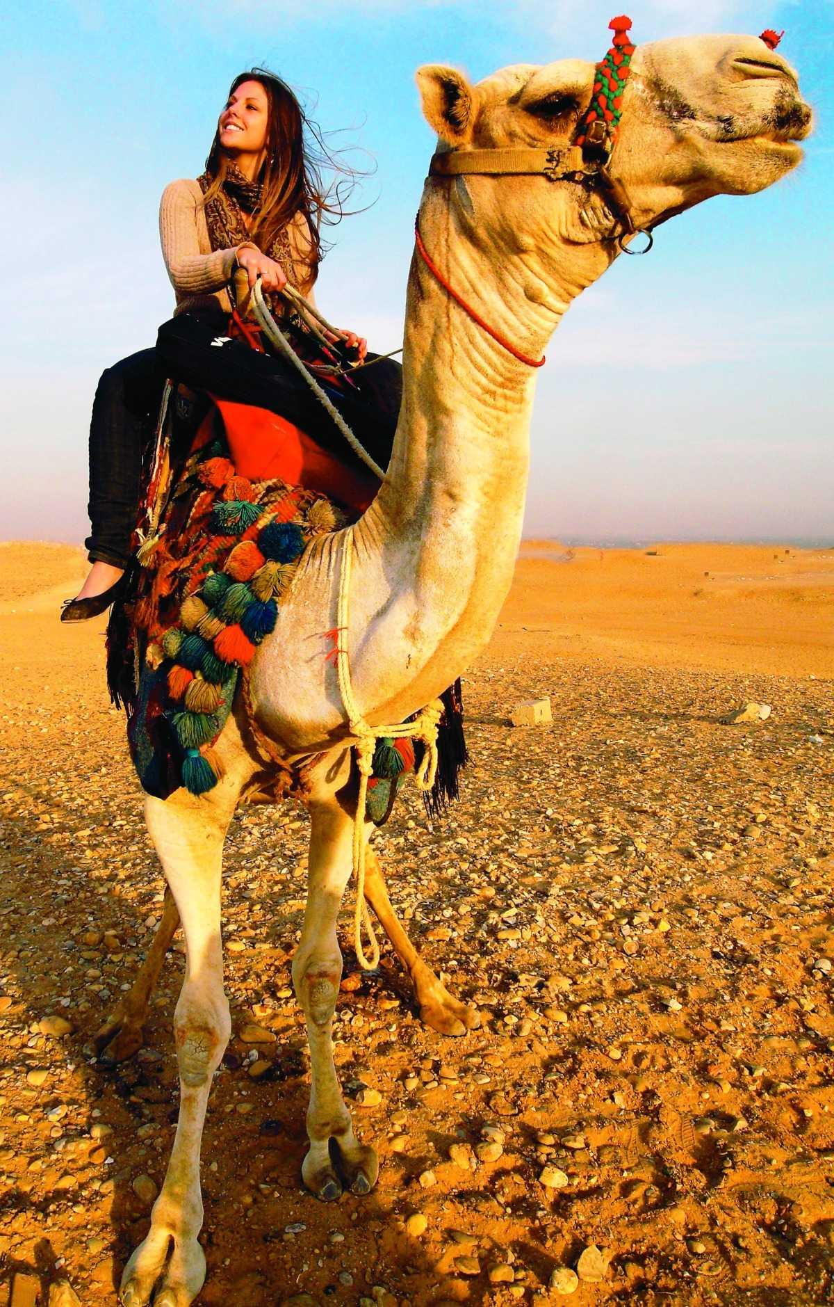 Anna Flemmert fick uppleva Jordanien från kamelryggen.