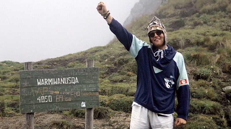 """JAAA! I den extremt tunna luften kändes det som en seger för Johan """"Inka"""" Gunnarsson att komma över det högsta passet på inkaleden."""