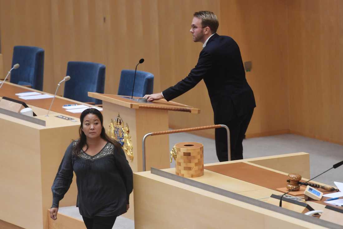 Jessica Polfjärd, M, och Andreas Carlson, KD.