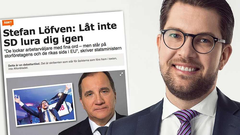 Det är direkt oärligt av Stefan Löfven att sedan påstå att det är vårt parti som lurar väljarna, skriver Jimmie Åkesson.