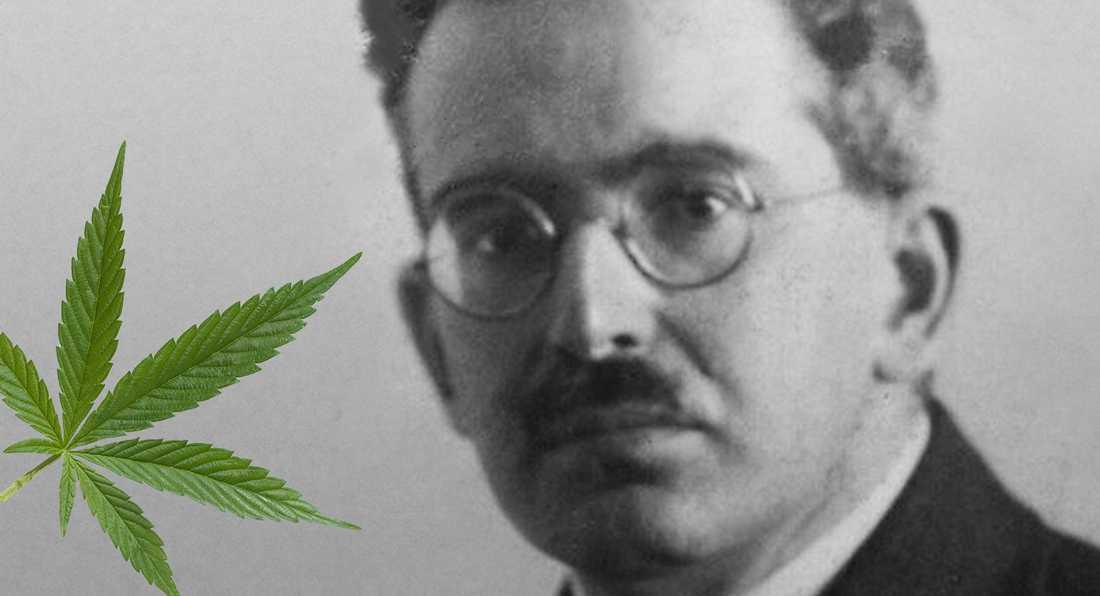 Tyske tänkaren Walter Benjamin experimenterade med hasch.