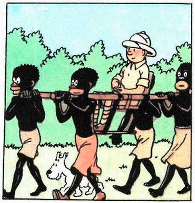 """Seriealbumet """"Tintin i Kongo"""" vållar en pseudodebatt, menar Johanna Langhorst."""