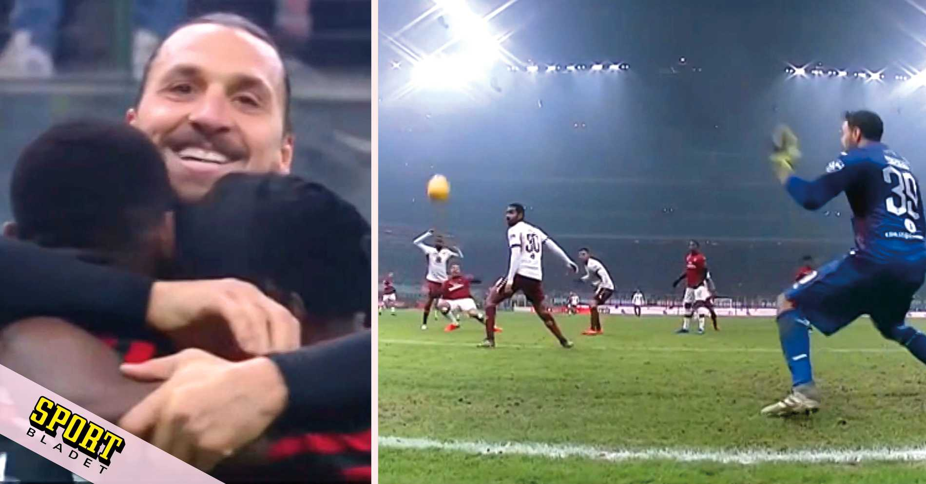 Se målet: Zlatan slog till igen – Milan till semifinal i cupen