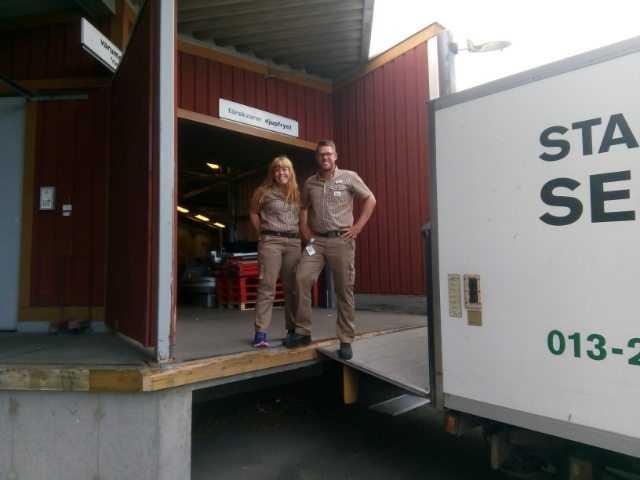 Anna Forsberg och Johan Vanselius jobbar på ICA Maxi Linköping.