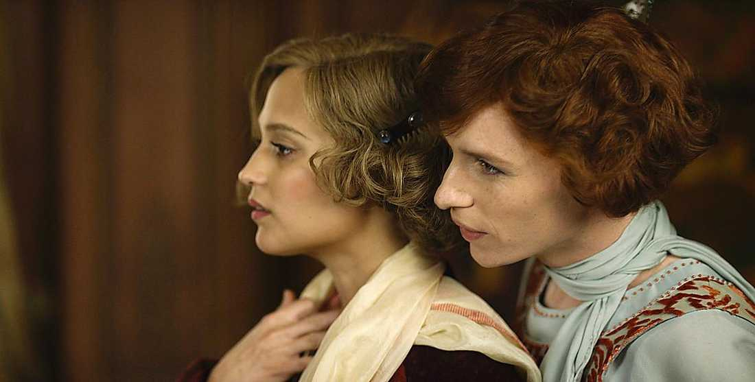 "Vikander och Redmayne i ""The Danish girl""."