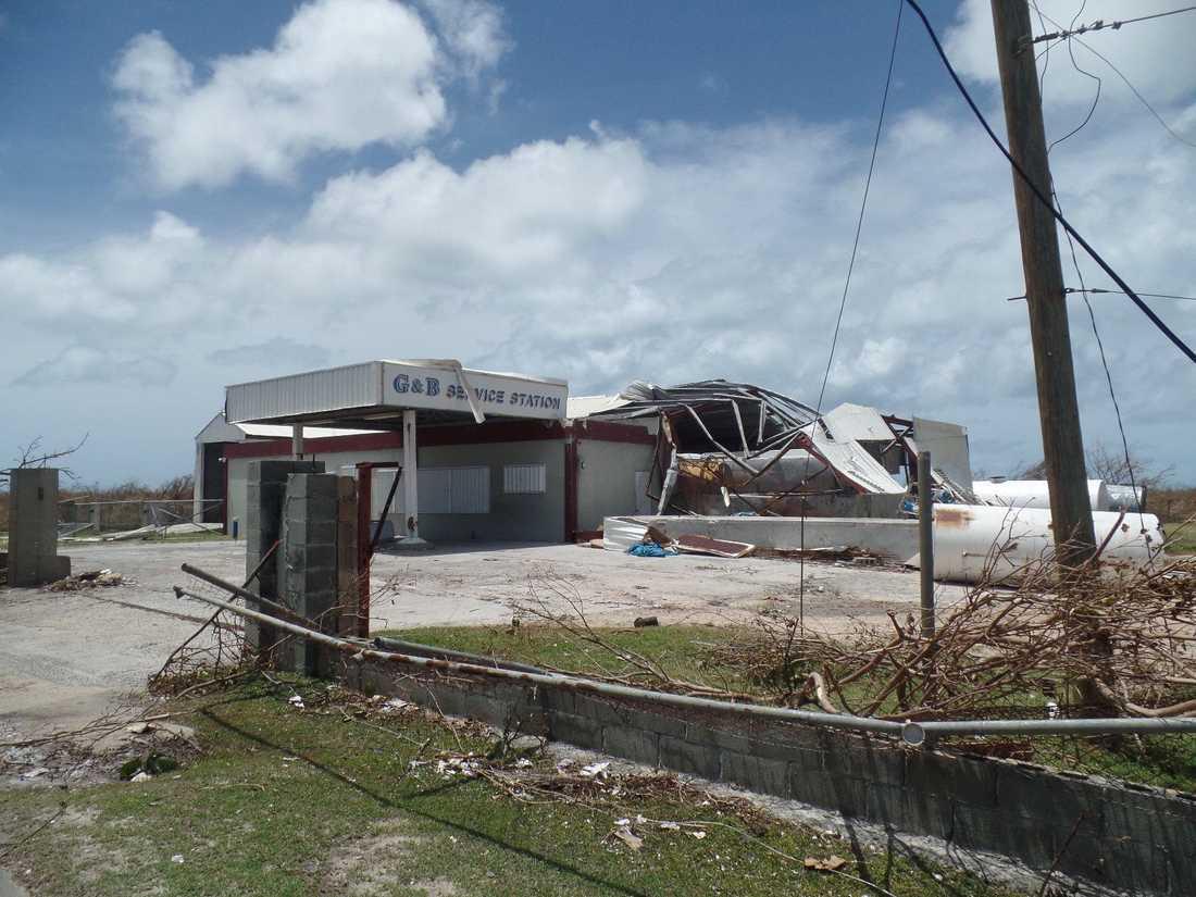 Förödelsen efter att Irma dragit fram på Barbuda.
