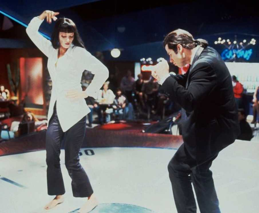 "Uma Thurman och John Travolta dansar till Chuck Berrys i ""You never can tell"" i Quentin Tarantinos mästerverk ""Pulp fiction"" 1994."