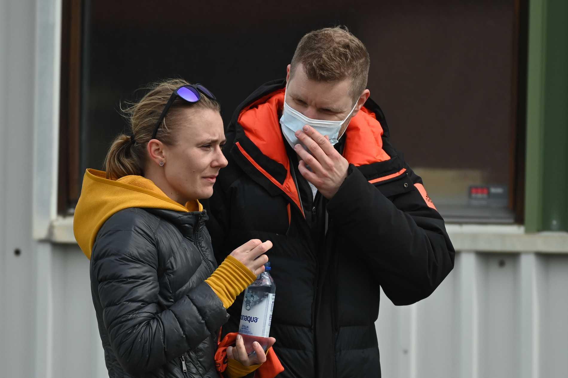 Carolina Wikström och tränare Christian Mundt.