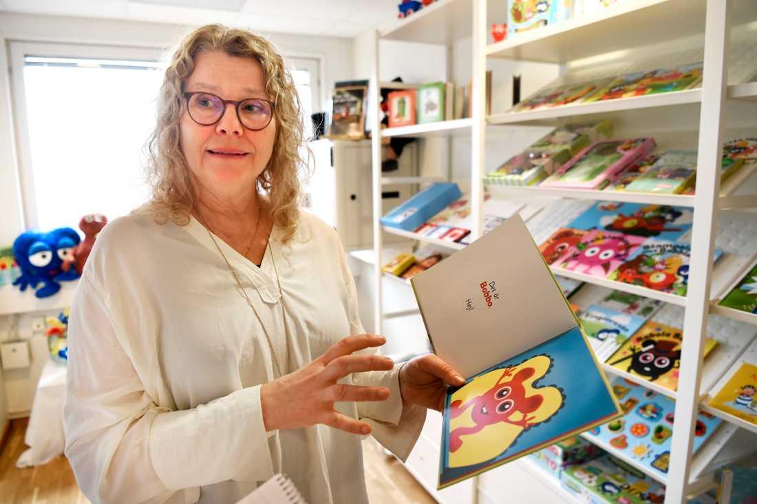 """Anneli Tisell, vd för Hatten förlag, menar att själva Babblarnakonceptet i grunden är hennes: """"Alla idéer kommer från mig"""", säger hon."""