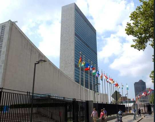 FN-högkvarteret i New York, USA.