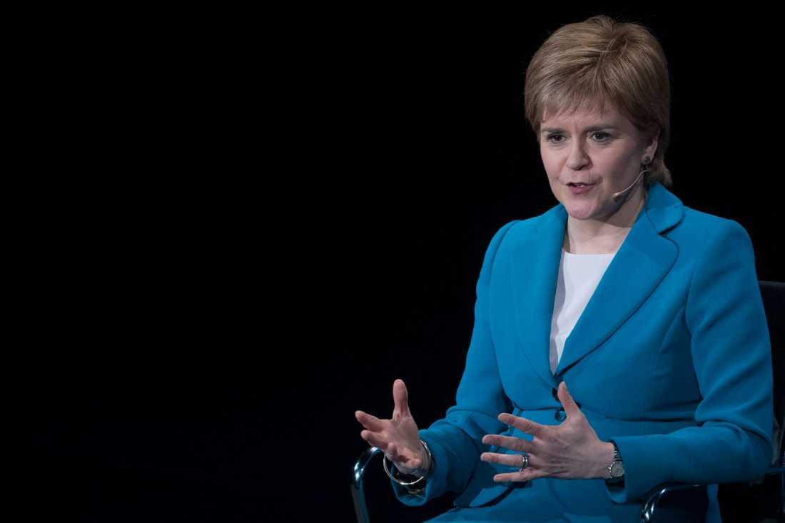 Det skotska nationalistpartiets partiledare Nicola Sturgeon. Arkivbild.