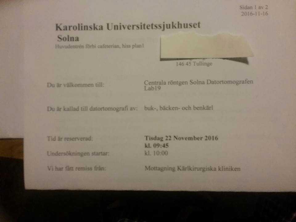 Karin Ekbergs kallelse till akutröntgen anlände – men fem timmar efter själva läkartiden.