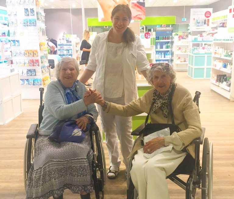Inga-Lill Rivell, Merita Holmström och Eleonora Nordqvist var alla nöjda med håltagningen.